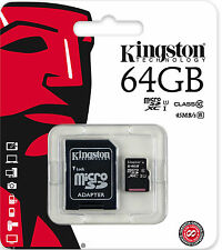 Kingston 64GB Tarjeta Micro SD PARA SAMSUNG GALAXY J, J2, J3, J7, Legend, Mega, K Zoom