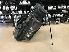 NICE Ping Golf HOOFER 2 Brown & Black STAND BAG Carry Straps 4-Way Pockets USED