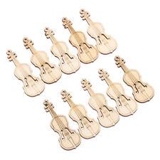 DIY Crafts Arts Wood Cutout Chips Violin Shape Ornament Scrapbooking