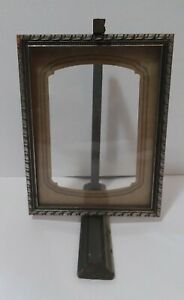 Antique Wood Carved Swivel Photo Picture Frame W/Glass