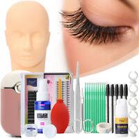 Kit Extension De Faux Cils Individuel Permanent Maquillage Colle Outil Mannequin