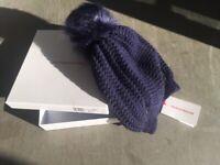 Borbonese originale cuffia donna lana e cachemire/woman hat