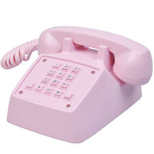 Pink Retro Telephone Vintage Corded Desktop Phone Princess Old Fashioned Gift