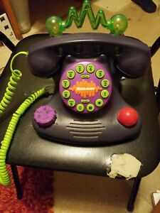 Vintage 90s Nickelodeon Talk Blaster Land Line Telephone Purple