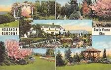South Vienna Ohio Hollandia Gardens Multiview Antique Postcard K58171