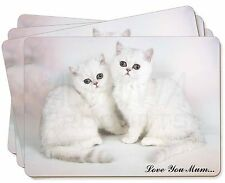 Exotic White Kittens 'Love You Mum' Picture Placemats in Gift Box, AC-52lymP