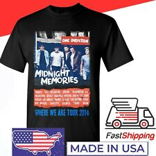 One Direction 2014 Midnight Memories Where We Are tour shirt Funny Vintage Gift