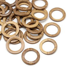 20x BurlyWood Coconut Ring Beads Donut Wood Connectors Wrapping Findings 35~36mm