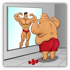 """Fat Man Reflection Funny Gym Bodybuilding Car Bumper Sticker Decal 5"""" x 5"""""""