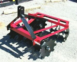 New ATLAS 1216   4 ft. Disc Harrow for 3 point (FREE 1000 MILE DELIVERY FROM KY)