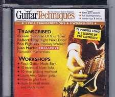 JUAN MARTIN / CREAM / FOO FIGHTERS CD GUITAR TECHNIQUES 81 2003
