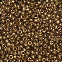 Miyuki Round Rocaille Seed Beads Size 11/0 23GM Metallic Light Bronze 11-457L-5