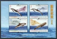 Taiwan 2006 Whales and Dolphins on Miniatire Sheet of Four Stamps MNH