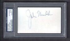 John Madden  RAIDERS BROADCASTER  HOF SIGNED AUTOGRAPH 3x5 Index Card  PSA / DNA