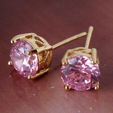 topaz gracious lady awesome stud earring Excellent Gift 14k gold filled Pink