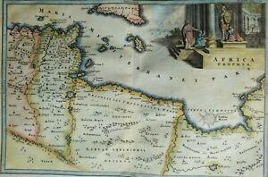 Malta, Libya, Tunisia, Sicily..., map by Cellarius, 1706, Africa Propria