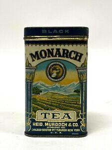 Vintage Reid, Murdock & Co Monarch 4 ounces Black Tea Advertising Tin Chicago IL