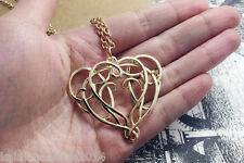 Lord of the rings Hobbit elf lord Elrond Golden pendant necklace LOTR jewelry