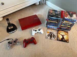 Sony PlayStation 3 God of War Garnet Red Console & 30 games