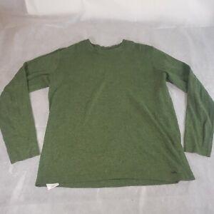 Quicksilver Long Sleeve Pullover Green Thermal Shirt Men's Size Medium Surf