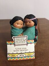 """Enesco Friends of The Feather """"""""Love For Many Moons"""" Figurine 1994"""