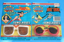 SUPER POWERS BATMAN & WONDER WOMAN SUNGLASSES LOT