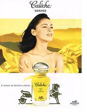 PUBLICITE  ADVERTISING  1998   HERMES    SOIE DE PARFUM   CALECHE