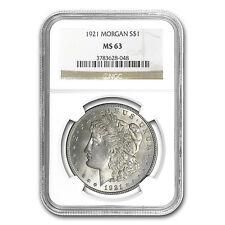 1921 Morgan Silver Dollar - MS-63 NGC