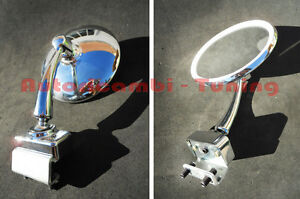 Mirror Chrome-Plated Round Dx = SX Fiat 500 F LR Fastening To Clamp