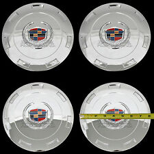 """4 CHROME ESCALADE 22"""" Wheel Center Hub Caps 6 Lug Hubs Nut Cover 7 Spoke Rim RC"""