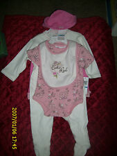 RED BY MARCECKO 5 PIECE SET ONSIE W/BIB HAT PANTS + + 6 MONTHS INFANT BABY CHILD