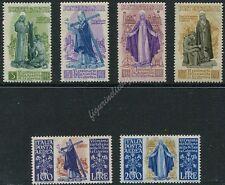 1948 Santa Caterina + Posta Aerea - 6 valori NUOVI MNH Repubblica S133