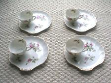 (4) Shell Cup & Saucer Tea?Set, Unique!