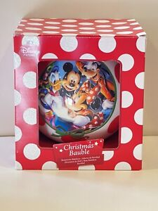 DISNEY STORE  MICKEY MOUSE & FRIENDS GIANT CHRISTMAS BAUBLE DECORATION & BOX