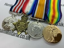 Replica WW1 Medal Trio with MM, 1914/15 Star, British War And Victory Medal