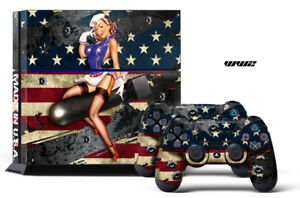 Designer Skin for PS4 Playstation 4 Console System + Controllers WW2