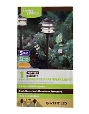 "Better Homes & Gardens LED Pathway Light  ""Frayser""  3 Tiered QuickFit New Metal"
