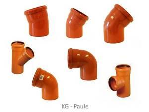 KG Rohr Bogen / KG Abzweig Orangebraun PVC DN 110 Kanalrohrsystem