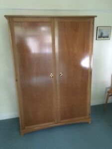 Stag Wooden Wardrobe 1950s 1960s Retro Vintage Excellent Condition