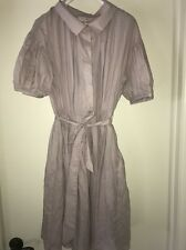 New NWT Dice Kayek Pink Label Purple Lilac Pleated Short Sleeve Dress Size 42