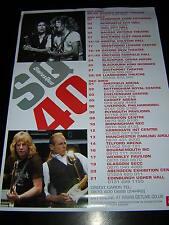 ORIGINAL STATUS QUO PROMOTIONAL POSTER - UK LIVE TOUR 2005
