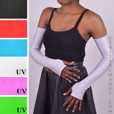 White Opera Gloves Shiny Long Arm Warmers Sexy Wet Look Sailor Moon Costume 1285