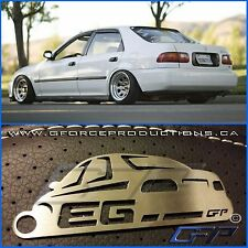 92-96 JDM Honda Civic sedan Stainless Steel Custom Key chain EG EH EJ