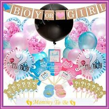 Gender Reveal Party Supplies,  Baby Shower Boy or Girl Reveal Kit (103 Pieces)