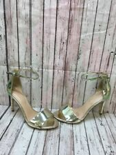 0e26b888b10e ALDO Gold Patent Leather Ankle Strap High Heel Sandal Heels Women s Size 8