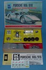VINTAGE K&B 1:24 SCALE MIB PORSCHE 906/916 SLOT CAR MODEL RACING KIT #1802