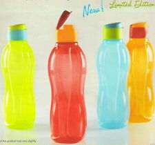 Tupperware 1 Litre Flip top ECO Aquasafe Water Bottles- Set of 2