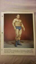 Edouard Carpentier Dimanche 1973 vintage wrestler Original Promo Photo poster