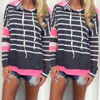 Women Long Sleeve Hoodie Blouse Shirt Sweatshirt Pullover Sweater Summer Tops