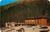 Denver CO~Vacationers on Lookout~Berthoud Pass Lodge on Rt 40~1960 Postcard